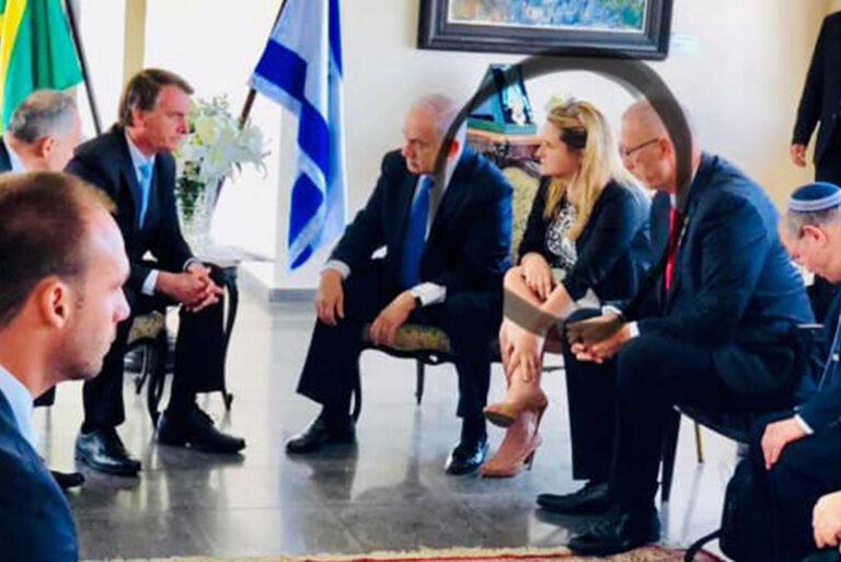 Jair Bolsonaro, Netanyahu e Paula Raposo