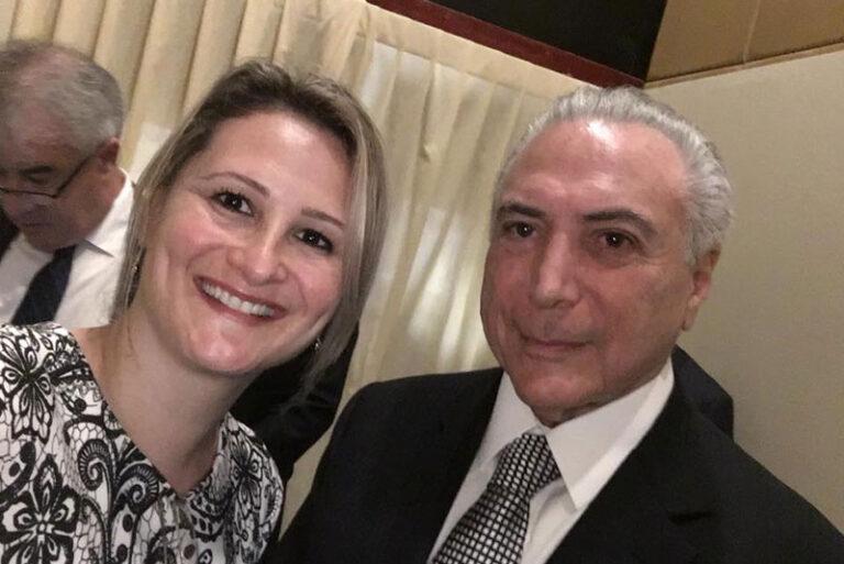 Michel Temer e Paula Raposo