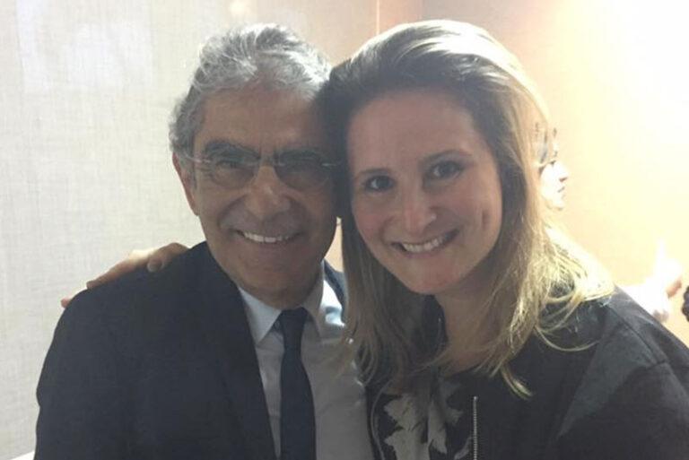Ministro Ayres e Paula Raposo